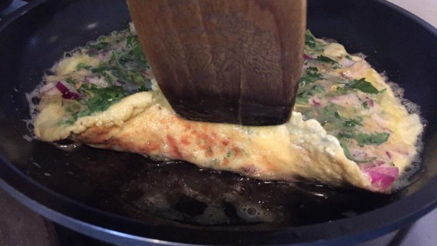 Masala-Omelett in Frankfurt