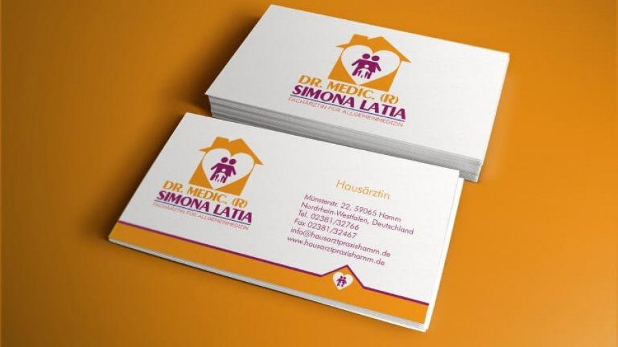 Visitenkarte Hausarztpraxis Hamm