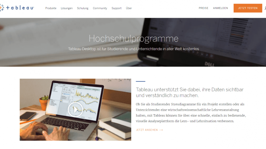 Visuelle Analysen mit Tableau