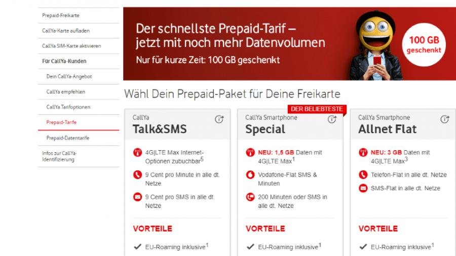 Vodafone Vertrag oder Prepaid-Karte