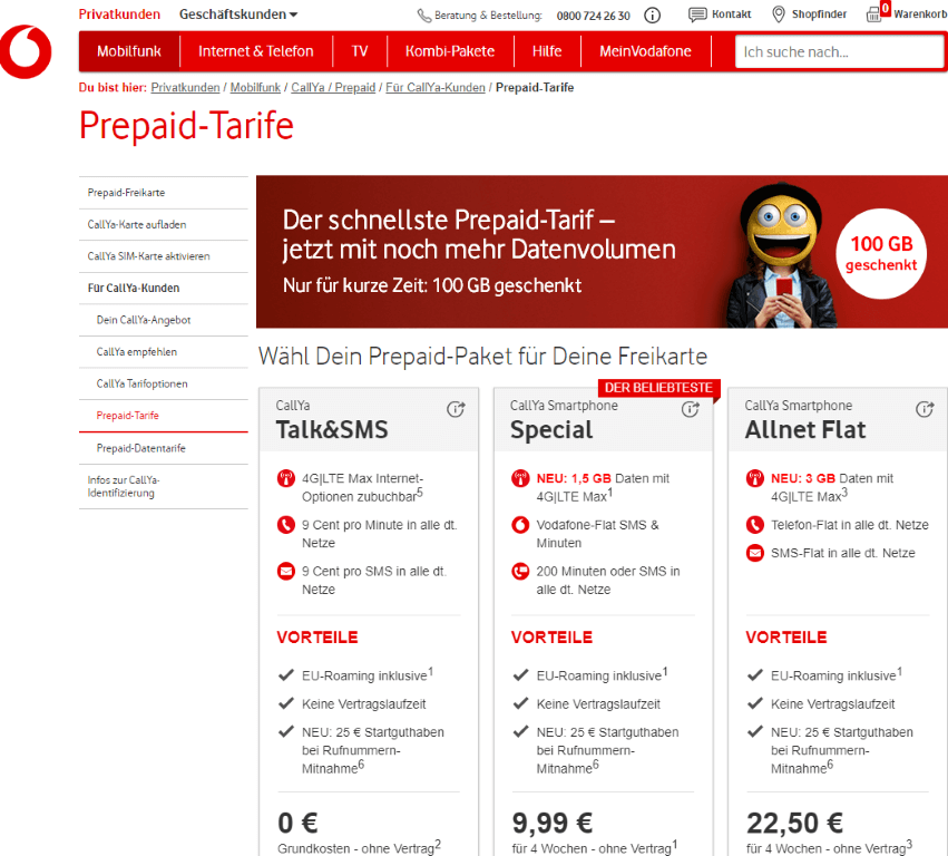 Callya Karte.Vodafone Vertrag Oder Prepaid Karte Sorin Liviu Jurj