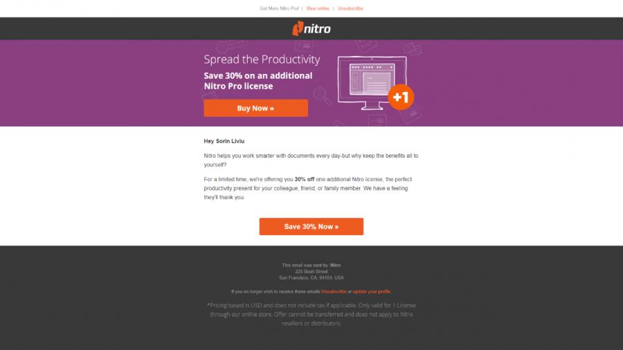 Nitro PDF 30% billiger