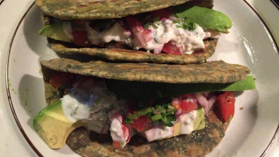 Selbstgemachte indische Tacos