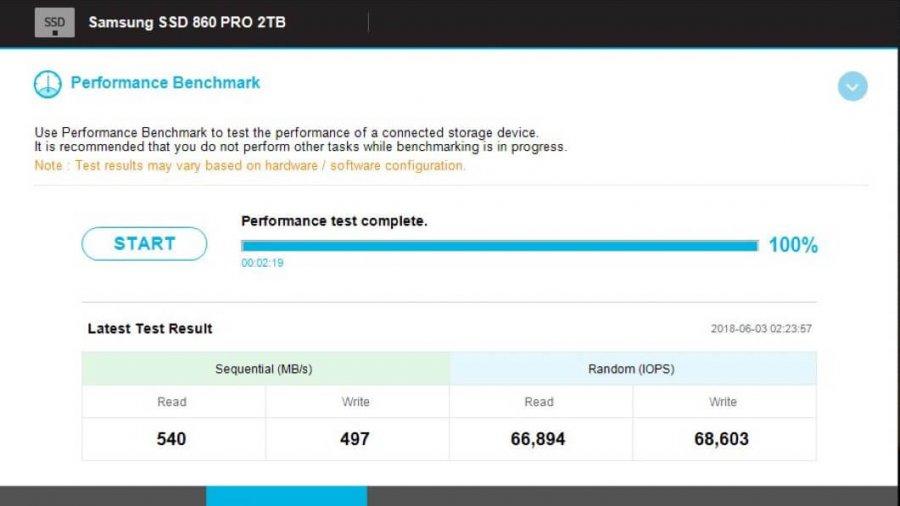 Leistungsbenchmark: Samsung 840 Pro SSD vs Samsung 860 Pro SSD