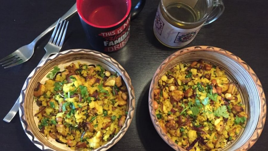 Poha – Indisches Frühstück