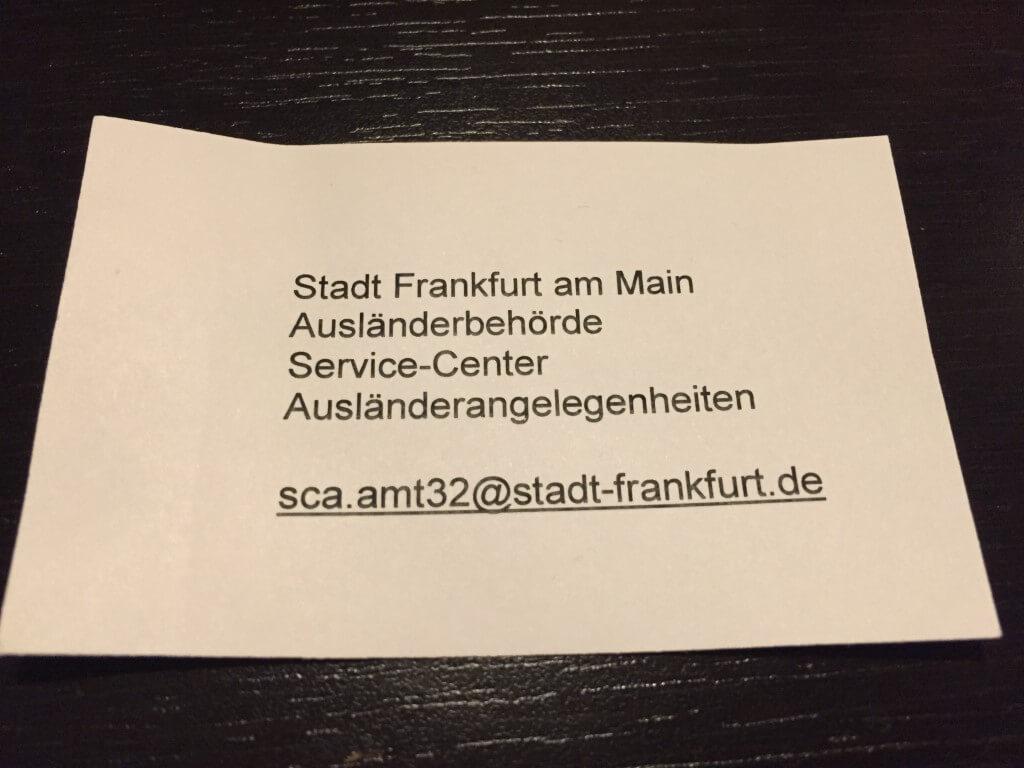 Online Termin Fur Niederlassungserlaubnis Aufenthaltstitel In Frankfurt Dr Ing Sorin Liviu Jurj