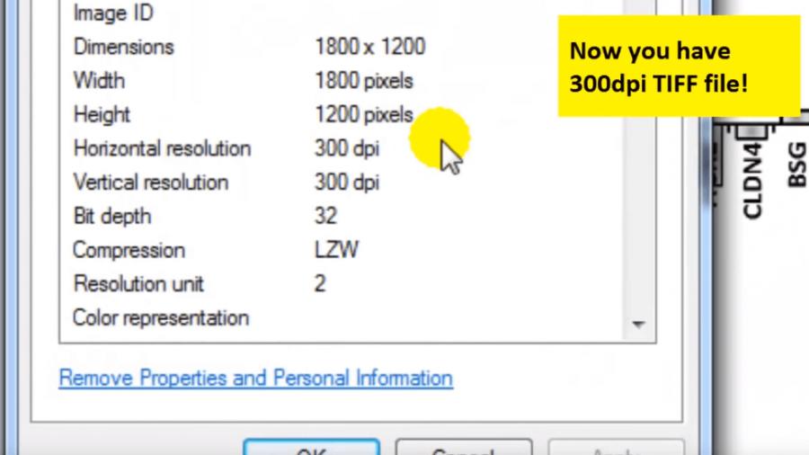 300 dpi TIFF Datei mit PowerPoint