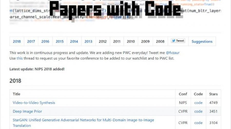 Papers with Code – GitHub Version