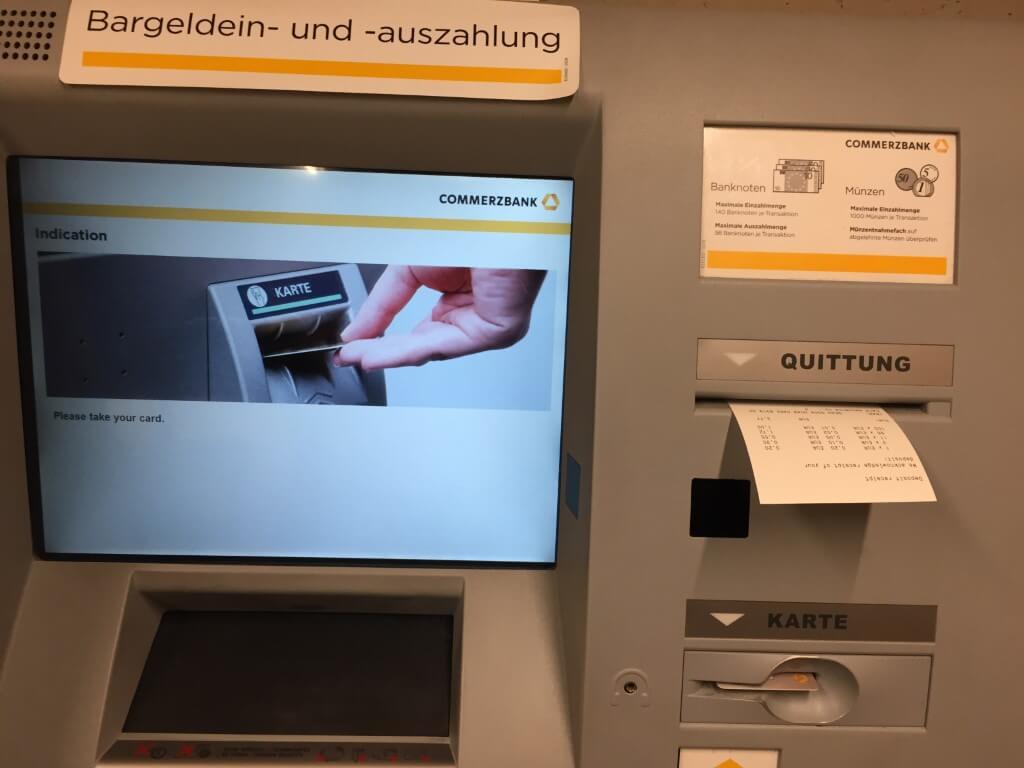 Munzen Einzahlen Commerzbank Automat - Münzsammlung
