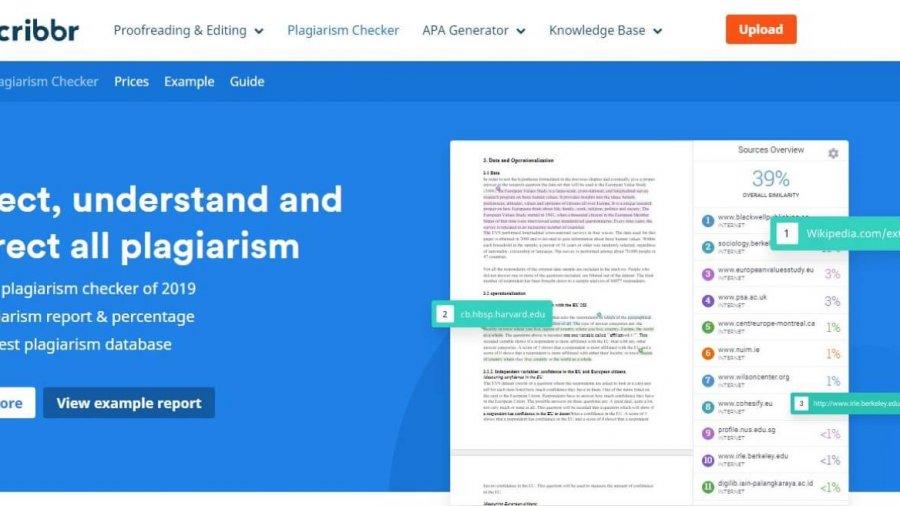 Scribbr: Online-Tool zum Prüfen von Plagiaten