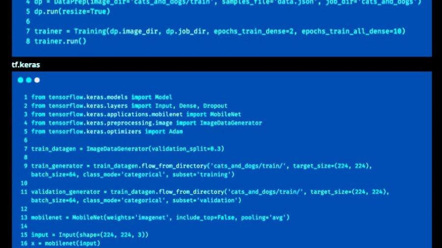 Zeilenanzahl zur Bildklassifizierung: Image-ATM vs Keras