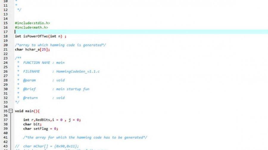 Hamming Code Generator zur Redundanzprüfung