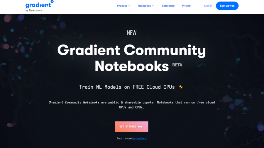 Kostenlosen Cloud-GPU für Deep Learning: Gradient Community Notebooks von Paperspace