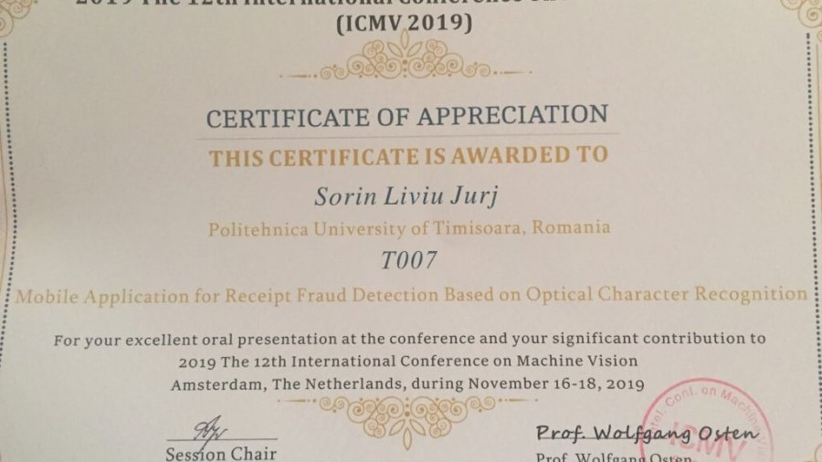 Mobile Application for Receipt Fraud Detection Based on Optical Character Recognition