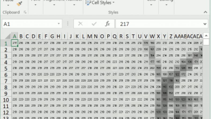 Grundlagen der Computer Vision in Microsoft Excel