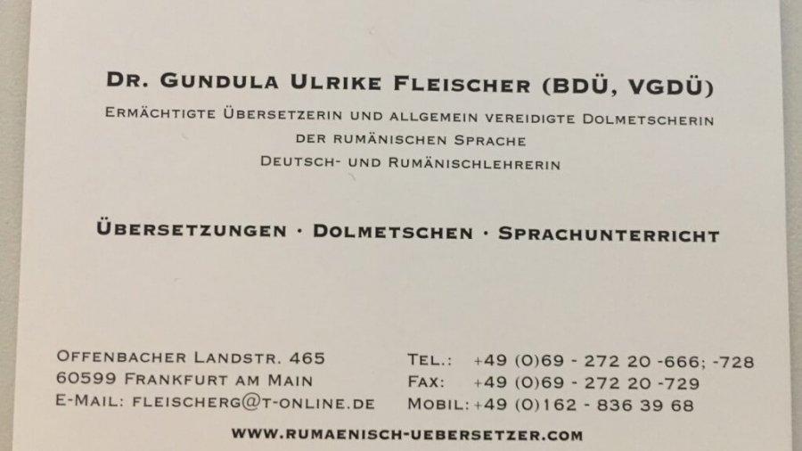 Übersetzung und Legalisierung von Dokumenten aus dem Rumänischen ins Deutsche (und umgekehrt) in Frankfurt