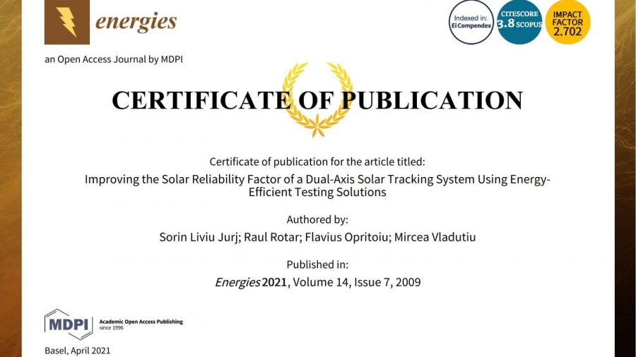 Improving the Solar Reliability Factor of a Dual-Axis Solar Tracking System using Energy-Efficient Testing Solutions