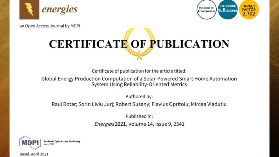 Global Energy Production Computation of a Solar-Powered Smart Home Automation System using Reliability-Oriented Metrics
