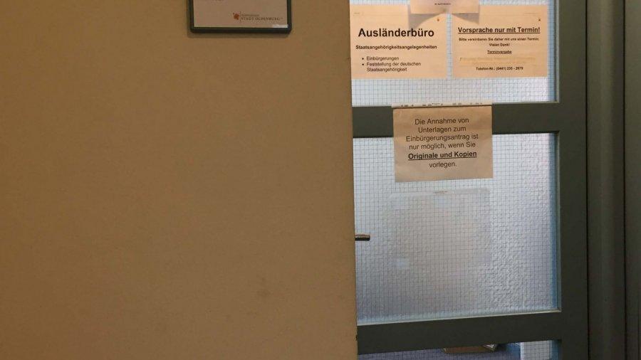 Ich habe die deutsche Staatsbürgerschaft in Oldenburg beantragt